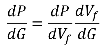 Derivative of pressure with respect to the G-function