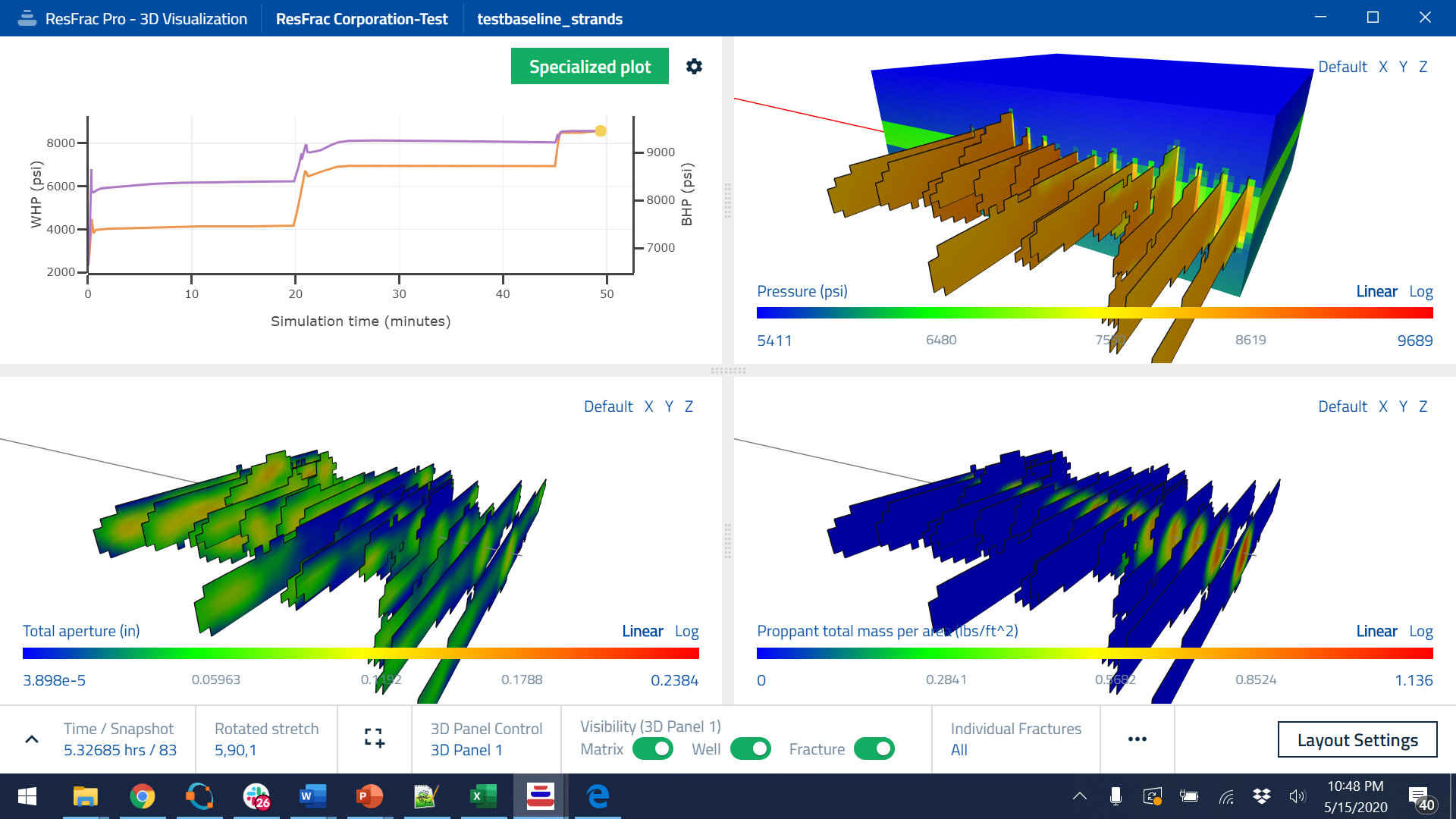 ResFrac Simulation Results