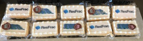 cookies with ResFrac logo